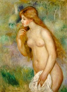 The taking a bath turn green in this - Pierre-Auguste Renoir