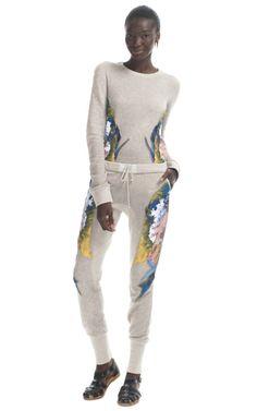 Jen Kao sweats - amazing embroidery on the sides, talk about luxury lounge wear!