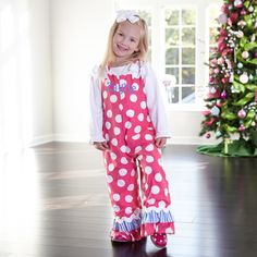 She could be the merriest girl at the party this Holiday!  find all the latest most adorable outfits for your little angel at www.lollywollydoodle.com