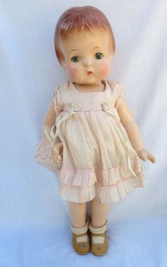 Vintage 1930 039 s 18 034 Effanbee F Amp B Composition Patsy Ann Doll Original Clothes | eBay