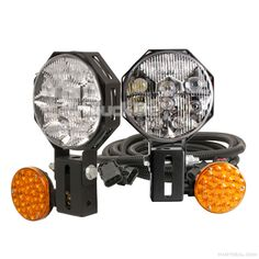 Super Durable and Bright Snow Plow Lights! Great upgrade. Won't break. Designed to ebd when struck.  Truck-Lite LED Snow Plow and ATL Lamp Kit - 80880