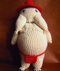 Radish Spirit Crochet Doll