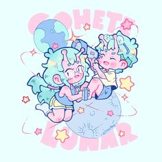 """""""Sticker design I made based on the characters I did for an illustration festival poster ✨🌙 🛸"""" Cute Art Styles, Cartoon Art Styles, Art Inspiration Drawing, Character Design Inspiration, Isometric Art, Art Folder, Pastel Art, Kawaii Art, Illustration Artists"""