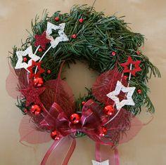 adventní věnec na dveře - Hledat Googlem Christmas Deco, Christmas 2017, Christmas Wreaths, Christmas Crafts, Holiday Decor, Outdoor Decor, Gifts, Things To Sell, Garden