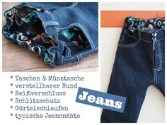 Selbstgenähte Jeanshose für Kinder