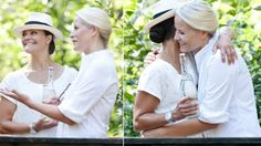 Crown Princess Victoria of Sweden and Crown Princess Mette-Marit of Norway take part in Climate Pilgrimage 2015 at the border of Norway and Sweden in Halden, Norway on August 22, 2015.