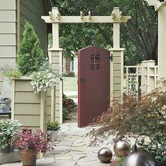 Craftsmanship on Front Door and Arbor Gate