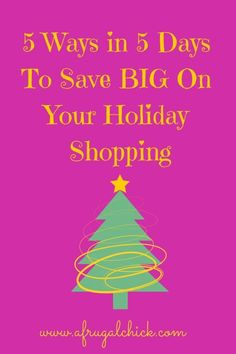 5 Ways in 5 Days To Save BIG On Your Holiday Shopping- Day Create Your Budget - Finance tips, saving money, budgeting planner Frugal Family, Frugal Living Tips, Savings Planner, Budget Planner, Shopping Day, Christmas Shopping, Cheap Christmas, Christmas Ideas, Money Saving Meals