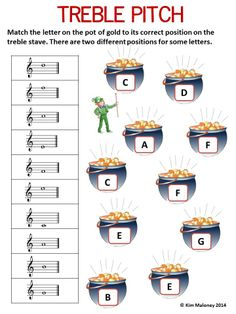 24 St Patrick's Day themed music worksheets covering the following music concepts: 1. Names of Notes and Rests (4 worksheets but TWO versions. #musiceducation #musedchat.