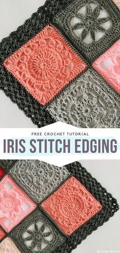 How to Crochet Iris Stitch Edging - - Do you like to complete a crochet project with a really Spectacular Edging every now and then? Well then, you have certainly come to the right place. Crochet Border Patterns, Crochet Blanket Border, Crochet Boarders, Crochet Motifs, Knitting Patterns, Crochet Edges For Blankets, Crotchet Patterns Free, Crochet Edging Tutorial, Crochet Table Runner Pattern