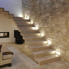 PARETE SCALE Basement House, House Stairs, Stairs Architecture, Interior Architecture, Brazil Houses, Stone Houses, House Goals, Stairways, Sweet Home