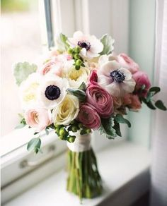 Anemone And Ranuncula Bouquet. Love!