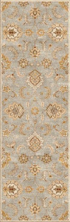 Jaipur Rugs Transitional Oriental Pattern Blue/Ivory Wool Area Rug MY13 (Runner)