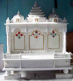 79 best MARBLE MANDIRS images on Pinterest | Prayer room, Mandir ...