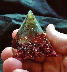 Labradorite, Kyanite, Smoky Quartz, Red Jasper, Carnelian and Citrine Piezoelectric Pyramid with Organic Rose Buds by KomacFineArt on Etsy