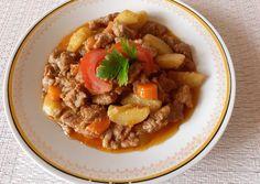 Bárányragú zöldséggel | Csiki Piroska receptje - Cookpad receptek Thai Red Curry, Pork, Ethnic Recipes, Red Peppers, Kale Stir Fry, Pigs