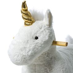 Cuddle Toy Rocking Animal - White Unicorn