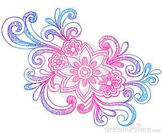 Flowers And Swirls Sketchy Notebook Doodles Royalty Free Stock Photo - Image: 11409675