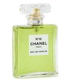 Number 19 by Chanel is a woody, earthy, citrusy Floral Green fragrance. The number in the name refers to the birth date of Coco Chanel, August 19. The perfume was launched in 1970 when Coco Chanel was 87 years old, a year before she died. Top notes are neroli, bergamot and green notes.  In the heart are iris, narcissus, lily-of-the-valley and rose.  The base is vetiver, sandalwood, oakmoss and leather. - Fragrantica