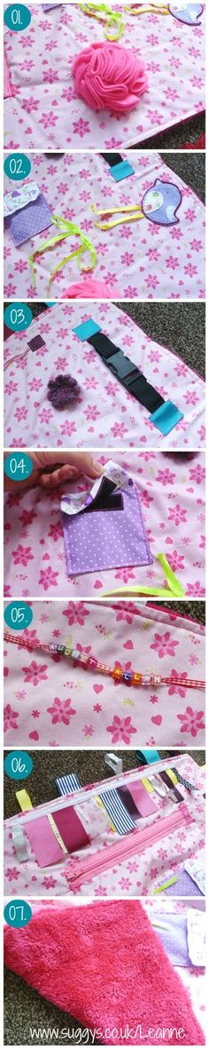 Alzheimer'sDementia Fidget Lap Blanket how to tutorial - would work for others with sensory needs as well