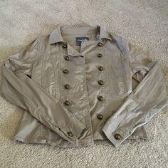 Tan button up jacket Tan button up jacket with gold buttons Charlotte Russe Jackets & Coats Pea Coats