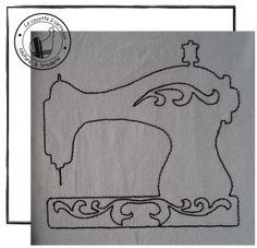 Je vous propose aujourd'hui une déclinaison en redwork du motif appliqué machine à coudre. link Bon mardi & bonne broderie