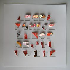 origami letter forms | ... form and structure of letters, based on their geometry and inherent