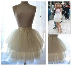 5024f1db845c Carrie Tulle Skirt - Custom Color Romantic Tiered Tutu with Silk Lining and  Removable Satin Sash