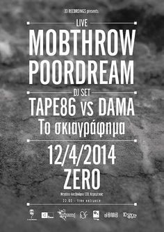 Mobthrow live in Athens at Zero on April 12th. 2014