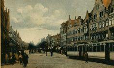 Zo heerlijk rustig ,1919 Schiedamseweg bij de Lage Erfbrug, in de richting van de wijk Tussendijken. Links de Schans.