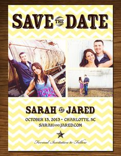 Chevron Save the Date, from etsy