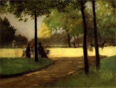 Giuseppe De Nittis Bois de Boulogne oil on canvas, 27,5 x 36 cm.