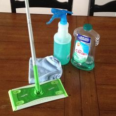 {DIY Swiffer cleaning pads}  Skip buying those expensive replacement Swiffer wet pads for mopping all you need are 4 items... * A pkg of the absorbent thick microfiber car cleaning cloths (can be found in any automotive dept usually in a 3pk) * A plain Jane Swiffer sweeper * bottle of your fav all purpose cleaner ( I love the smell of the Mr.Clean meadows and rain febreez)  * A cheap but large spray bottle  < clip the microfiber pads into your Swiffer and pour your cleaner into your spray…