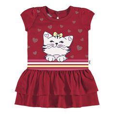 Vestido Estampado com Calcinha Vermelho $51.79 - Alakazoo Store