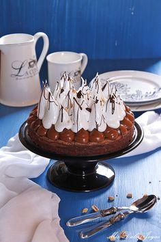 Tarta brownie con dulce de leche, merengue y cacahuetes - Mis Dulces Joyas Flan, Brownies, Cupcakes, Favorite Recipes, Chocolates, Sweet, Desserts, World, Amor