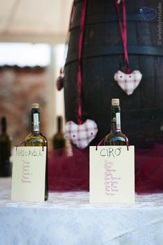 http://www.comeneisogni.com/wedding-planner-torino/temamatrimonioilvinobuono/Tableau de Mariage-5
