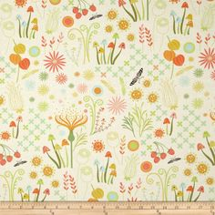 Helen's Garden Enchanted Cream Fabric from by StitchStashDiva