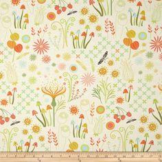 Helen's Garden Enchanted Cream Fabric from by StitchStashDiva