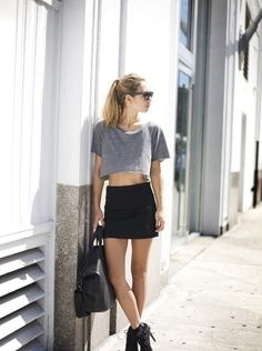 Street style. Such a great near classy meets grunge look