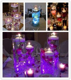 Lovely Floating Candles Wedding Centrepiece Ideas | DIY Tag
