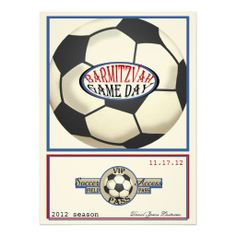 Vintage Retro Soccer 5.5 x 7.5 Bar Mitzvah Invites We have the best promotion for you and if you are interested in the related item or need more information reviews from the x customer who are own of them before please follow the link to see fully reviewsShopping          Vintage Ret...