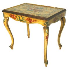 18th c. Venetian Painted Side Table