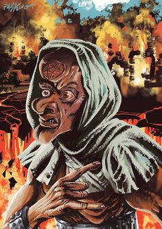 Daniele Pasquetti- Medioevocazione del Dimonio(danielepasquetti1@gmail.com) #medieval #pentagram #fire #evocation #satan #demon #grotesque #doom #metal #hieronymusboschstyle #richardcorbenstyle #danielepasquetti #paskuo