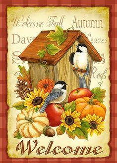 Amazon.com: Toland Home Garden 102503 Autumn Birds House Flag: Patio, Lawn & Garden
