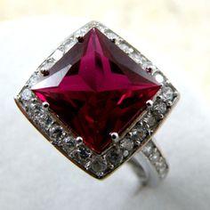 Ruby Topaz + White Topaz Ring