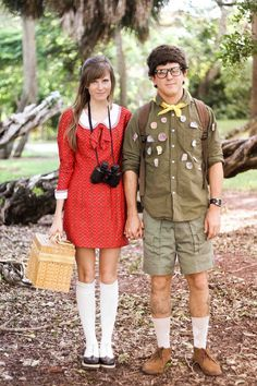 Sam + Suzy from Moonrise Kingdom make a great couples costume for Halloween.