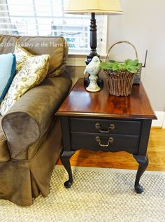 Holidays at the Harris Home: Painted End Table
