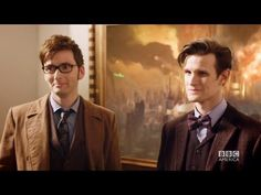 """DOCTOR WHO *Exclusive Extended* Inside Look: Ten & Eleven Together in """"The Day of The Doctor"""""""
