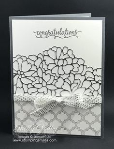Make a beautiful and elegant silver anniversary card with the Stampin' Up So In Love Stamp Set and Stampin' Up! So Detailed Thinlits Dies from the 2017 Stampin' Up! Occasions Catalog