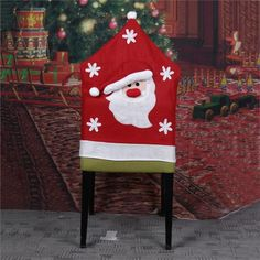 1 PC Mrs Santa Claus Christmas Dinner Banquet Chair Back Cover Xmas Party Home Decor VBZ87 P30
